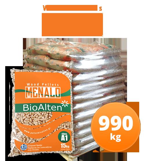 Πέλλετ Pellet Bioalten Menalo-990kg